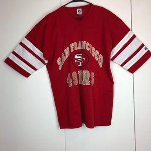 Vintage San Francisco 49ers Logo 7 T Shirt Footbal